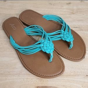 Shoes - Summer Flip Flops with Braided Straps